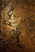 Structural Plaster, Imitation Of A Rusty Sheet Of Metal With Rivets. Creative Vintage Background. poster