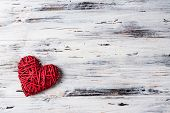 Background With Hearts, Valentine. Valentines Day. Love. Wicker Hearts. Romantic Photo. Place For T poster