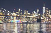 Blurred New York City Skyline, Usa. poster