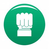 Hand Protest Icon. Simple Illustration Of Hand Protest Icon For Any Design Green poster