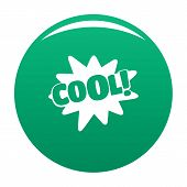 Comic Boom Cool Icon. Simple Illustration Of Comic Boom Cool Icon For Any Design Green poster