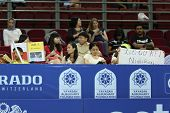 KUALA LUMPUR - SEP 27: Fans of Kei Nishikori of Japan cheer him on in his round 2 match at the ATP T