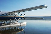 picture of float-plane  - airplane on Alaska - JPG