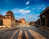 stock photo of krishna  - Krishna temple on sunset - JPG