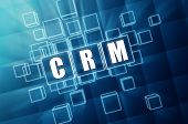 Crm In Blue Glass Cubes