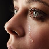 stock photo of sob  - beauty girl cry - JPG