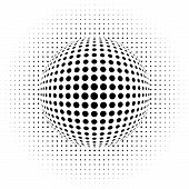 picture of hypnotic  - vector illustration of the dots  - JPG