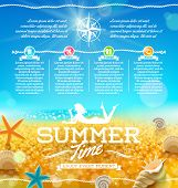 stock photo of starfish  - Summer vacation and travel design - JPG