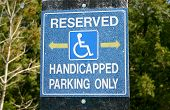stock photo of physically handicapped  - Handicapped sign  - JPG