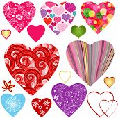 Collection Colorful Valentine Hearts