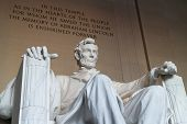 stock photo of abraham  - The statue of Abraham Lincoln - JPG