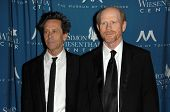 Brian Grazer and Ron Howard  at the  Simon Wiesenthal Center's 2010 Humanitarian Award, Beverly Wils