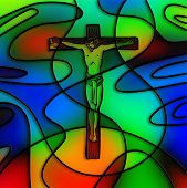 picture of calvary  - The Lord Jesus Christ on the cross of calvary - JPG