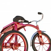 foto of tricycle  - illustration of a red tricycle isolated on white background - JPG