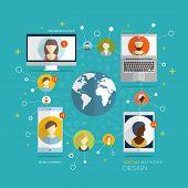 pic of social system  - Social Network Vector Concept - JPG