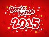 foto of bonnes  - Bonne Annee meaning Happy New Year 2015 greeting in French language - JPG