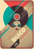 picture of ladies night  - Disco night poster design - JPG