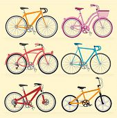 stock photo of mountain chain  - Bicycles - JPG