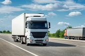 foto of truck  - truck on road - JPG