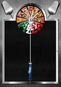 Постер, плакат: Italy Pizza Menu Design