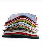 image of t-shirt red  - pile of colorful t - JPG