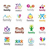 stock photo of union  - big set of vector icons for family union - JPG