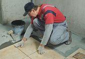 foto of ceramic tile  - Laying Ceramic Tiles - JPG