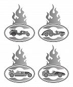 pic of muscle-car  - retro muscle car vector graphic art illustration - JPG