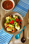 picture of brussels sprouts  - Baked vegetables - JPG
