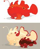 picture of exotic frog  - Frog Vector illustration of beautiful frog fish on isolated background - JPG
