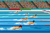 Постер, плакат: Swimming Competition