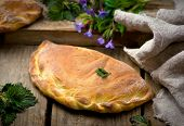 pic of nettle  - calzone with ricotta and nettle - JPG