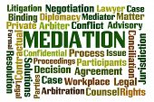 picture of proceed  - Mediation word cloud on white background - JPG