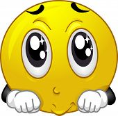 picture of begging dog  - Mascot Illustration of a Smiley Doing a Puppy Dog Face - JPG