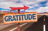 picture of humility  - Gratitude sign with road background - JPG