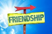 pic of bff  - Friendship sign with sky background - JPG