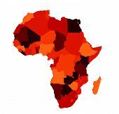 picture of land-mass  - Africa map vector illustration art on white - JPG