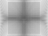 foto of inverted  - Abstract digital background with invert perspective square pattern on white wall 3d illustration - JPG