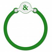 pic of ampersand  - circular frame for your text and ampersand - JPG