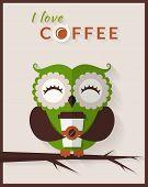 stock photo of cute  - I love coffee - JPG