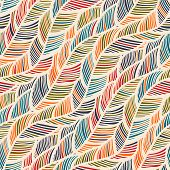 stock photo of feathers  - Abstract Feather Wave Decorative Pattern - JPG