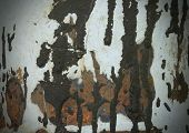 picture of tar  - Rust tar stains oil metal texture background - JPG