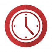 picture of pass-time  - time red flat icon watch sign - JPG