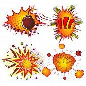 pic of explosion  - Retro Comic Book Vector Boom Explosion - JPG