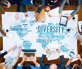image of racial diversity  - Diversity Community Meeting Business People Concept - JPG