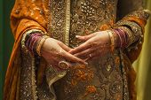 image of indian sari  - Details of indian bride look and dress - JPG