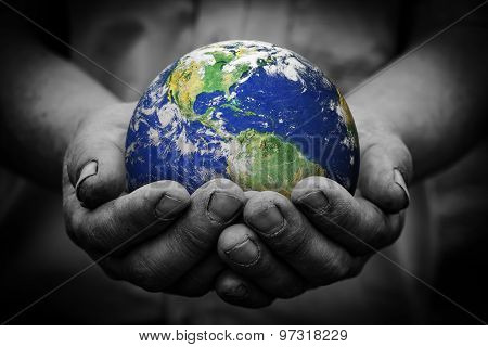 Earth In Hand poster