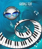 picture of smiley face  - music background - JPG