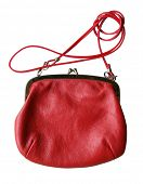vintage red fancy bag isolated on white background
