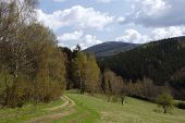 meadow path on mountains by name Jesenik